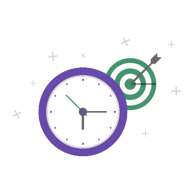 icon illustrating that work is delivered on time
