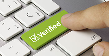 Customer clicking the verified button